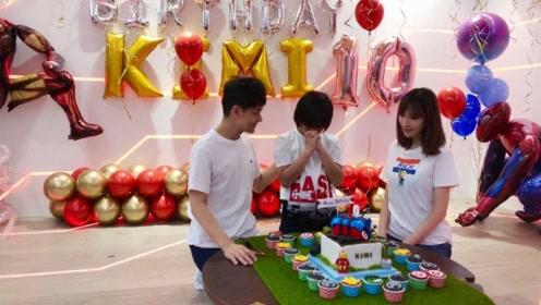 林志颖为KIMI庆祝10岁生日 贴心准备钢铁侠主题派对