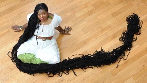 世界上头发最长的女人,长17米重40斤,网友:颈椎病了解下!