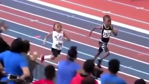美国五岁小男孩,200米跑出37秒57,全场一枝独秀!