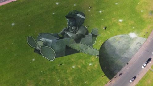 英国这幅画作 只能坐着飞机看