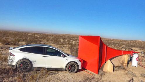 牛人测试世界最大汽车喇叭,按下开关后,才知道啥叫灾难