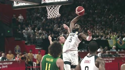 杰伦布朗篮球世界杯五大镜头 一飞冲天单臂劈扣云端漫步大风车