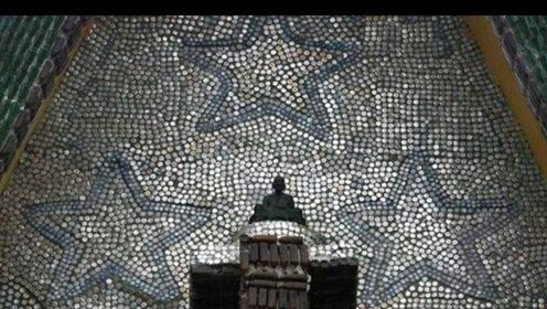 泰国僧人用百余万酒瓶建寺庙 被赞世界最环保寺庙