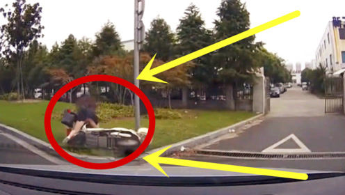 极品女司机只顾大喊却不踩刹车,一波骚操作吓坏老司机,无敌了!