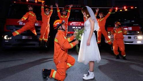山西新娘远赴广东嫁消防员:你没空来娶我,我就过来嫁给你!