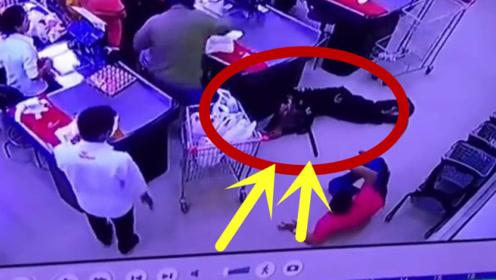 """这个保安就是个""""摆设""""!商场发生抢劫案,保安直接趴在地上!"""