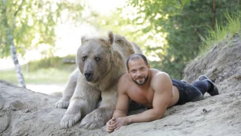 世界上最听话的一头熊,为主人赚钱20年,这家人发财了