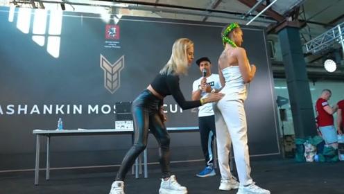 """俄罗斯""""奇葩""""的比赛,女子互相扇屁股,参赛者大多为健身模特!"""