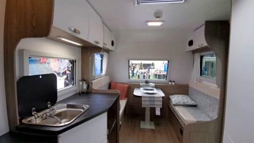 小型公路版拖挂房车,外观采用全新配色,金辂悦途房车正式发布