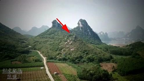 航拍风水极佳的小山头,有钱人都想把墓地迁来这里,地形真的壮观