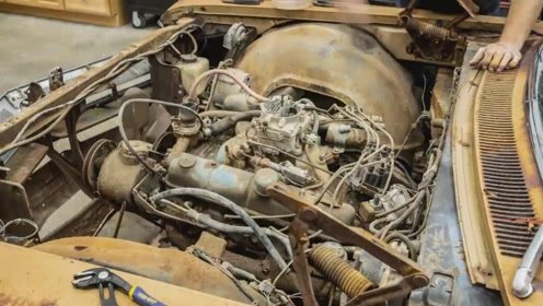 给一辆老旧的别克车修复引擎,从生锈到咆哮,老外动手能力超强