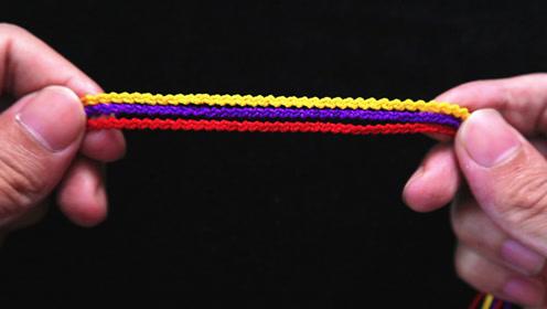 手链编织教程:非常漂亮的左右结手链,编法简单,女孩子赶紧试试