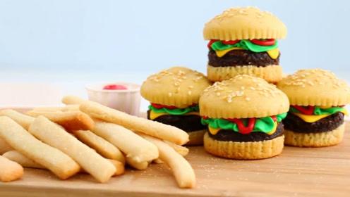 这么逼真的迷你汉堡,原来是牛人做的创意蛋糕?儿子一口能吞几个