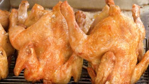 一整只鸡直接下锅油炸,真香!