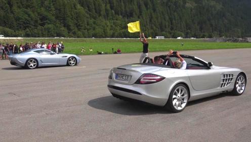 """500万的奔驰单挑1000万的法拉利,什么叫""""公路F1""""?眼见为实"""