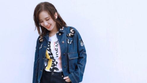 刘诗诗产后首穿超短裙,86斤配牛仔短发状态好少女!