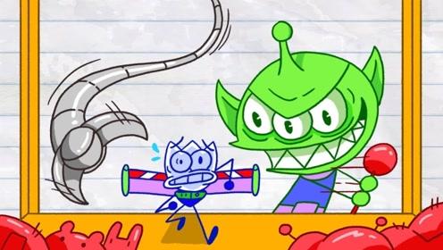 铅笔男孩落入作者圈套,不仅失去了自由,还沦为了玩偶的阶下囚!