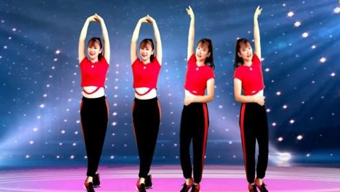 兰菲萍广场舞《唐人DJ》网红瘦腰健身操教学