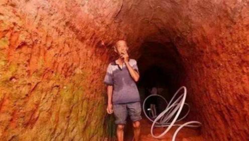 73岁老汉因为妻子一句玩笑,为了省空调钱,用一年挖通一座山