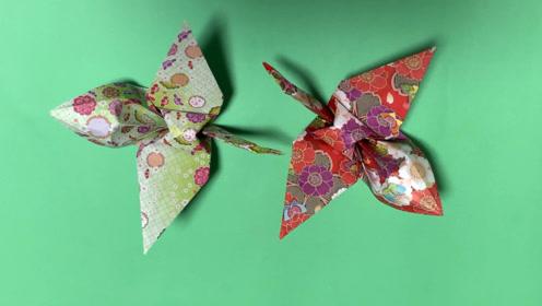 如何折叠千纸鹤,千纸鹤折纸方法,创意折纸DIY