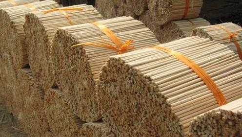 为什么一次性筷子卖得很便宜?看看生产过程,你就知道了