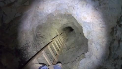 一口废弃了20年的矿井,老外爬下去一看,吓尿了!