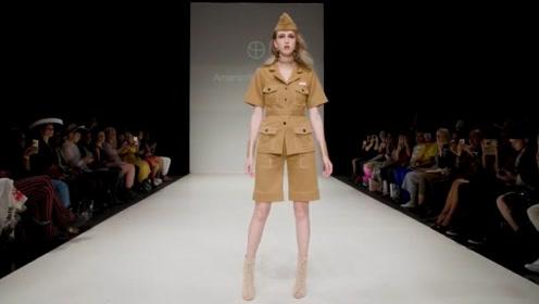 女模特穿军装亮相英姿焕发帅气逼人