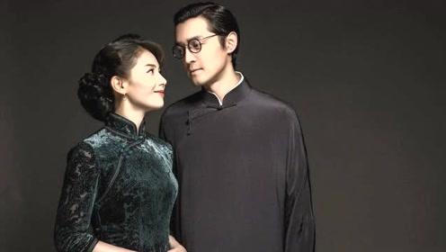 琅琊CP重组!刘涛胡歌民国风写真 凝视拥抱演绎亲密爱人