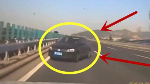 高速上突然调头逆行,万分危急时刻,视频车司机都吓懵了