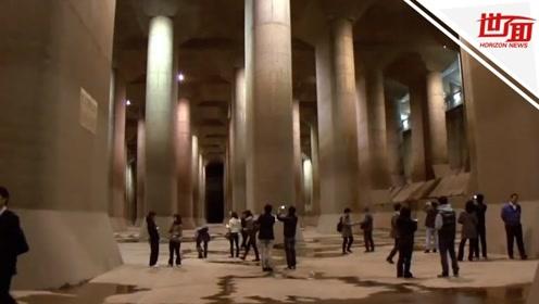 """揭秘日本""""地下神殿"""":4年首次全面启动 3天排光1000万吨洪水"""