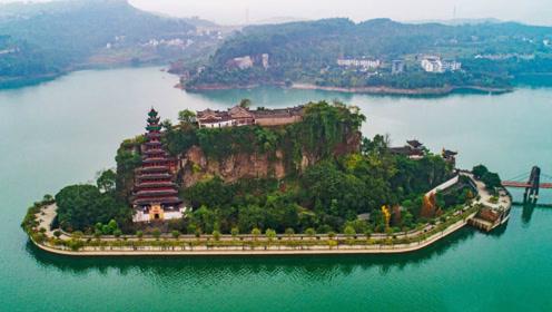 """这处""""长江上的盆景""""让海外网友啧啧称奇——"""
