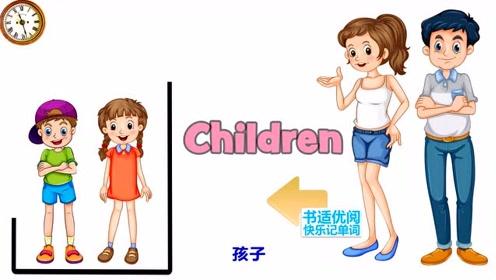 快乐英语记单词家庭成员儿子女儿丈夫妻子英语单词快乐学习