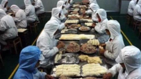 速冻水饺都是人工包的?看完生产过程,网友:感觉再也不想吃了