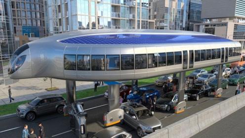 几十年后的未来公交车?堵车时自动伸缩轮胎,未来能量产吗?