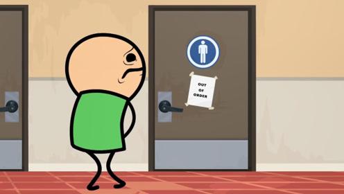 厕所人满了,小伙竟打起了老爷爷的主意,结果却不忍直视!