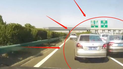 轿车司机高速停车,造成5车连环追尾事故,交警看完监控都怒了:严惩!