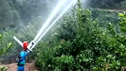 先进农用喷水枪,省了很多力气,最后那几枪连贯性真牛