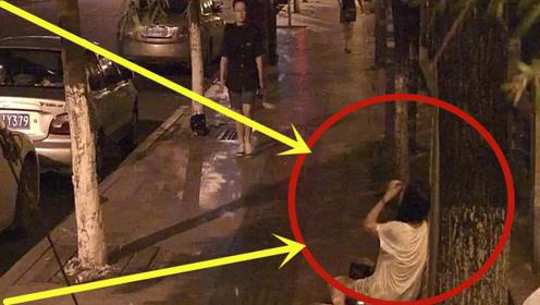 醉酒美女躺在路边,猥琐男真面目暴露,看的毛骨悚然!