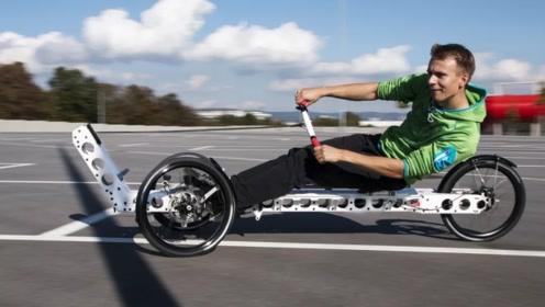 不用脚骑的自行车,前进全靠双手,看完佩服设计师脑洞
