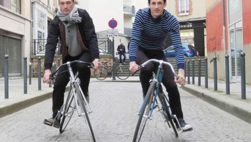 3个刷新三观的自行车,没想到后轮都这样了还能骑!