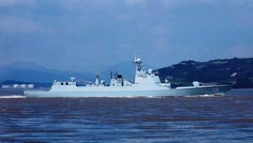 """太原舰与日本海自舰艇开展联合训练 打出""""CHINA""""灯光信号"""