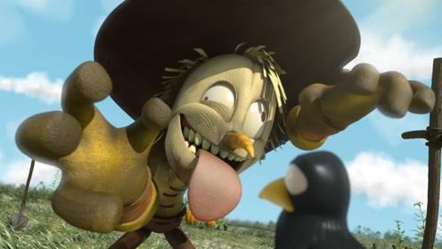 搞怪稻草人看管庄稼,却被乌鸦整蛊,一场打斗把农作物搞得一团糟!