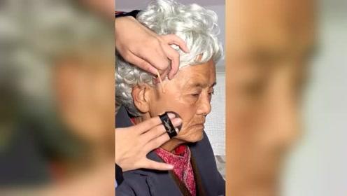 妆前老奶奶,妆后妙龄少女,化妆技术真的是太神奇了!