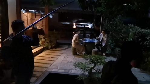 电影《龙井》在龙井82号拍夜场电影