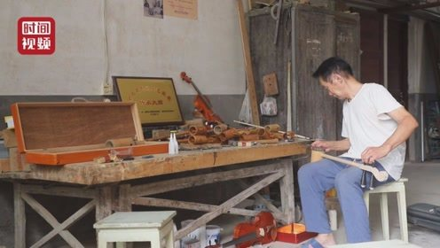 """为""""琴""""痴狂!七旬老人制作乐器60年 自制小提琴已卖到国外"""