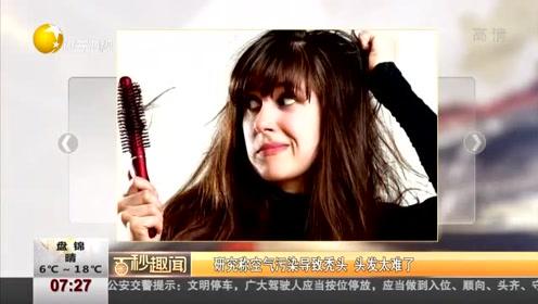 研究称空气污染导致秃头,头发太难了