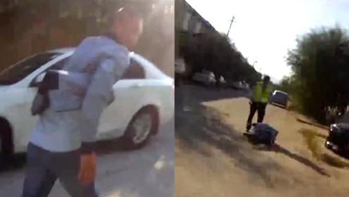 山东宝马男醉驾2次逃逸却醉倒在地:我错了!低估了警察的实力