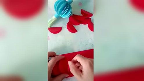 手工制作可爱纸灯笼,精巧又漂亮,做法一看便会