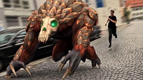 """国外牛人挑战现实版""""神庙逃亡"""",亲自追赶怪兽,结局翻转来的快!"""