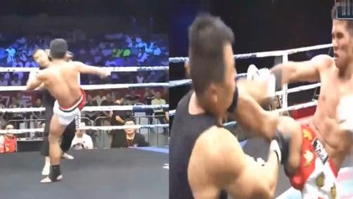 咏春大师上擂台74秒遭爆头KO,当场倒地昏迷不醒